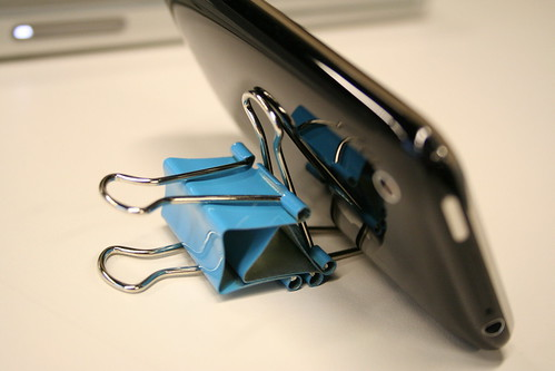 iPhone Binder Clip Stand 2.0   by rich sipe