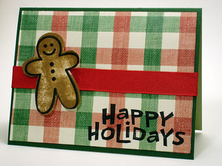 Finished Gingerbread Man Christmas Card   by CraftyGoat