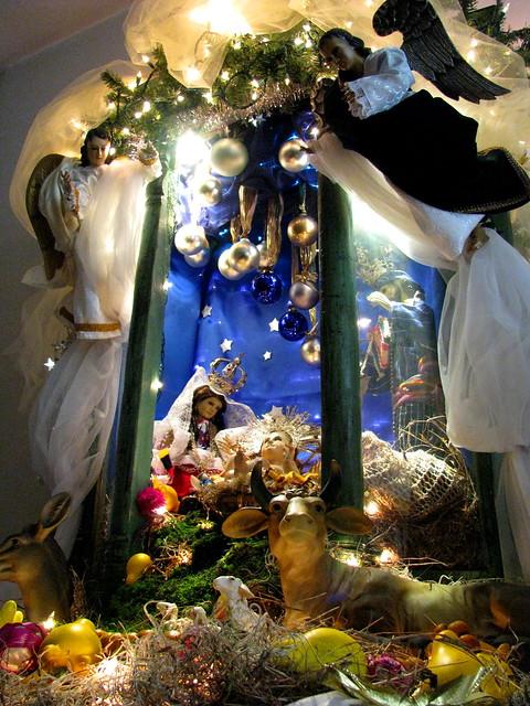 Nacimiento, belén, pesebre  o portal guatemalteco. Navidad 2008, Guatemala.