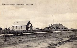 Old Postcard A side. Leongatha