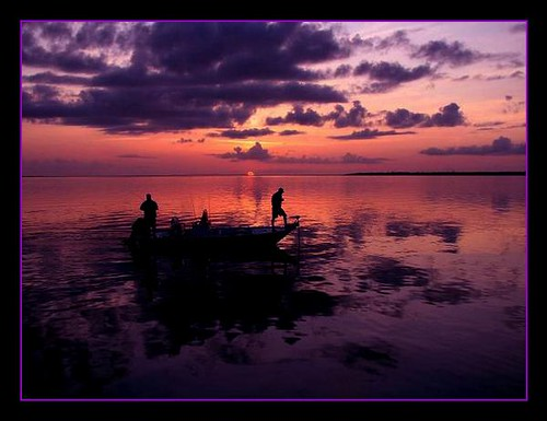 sunset sunrise boat fishing