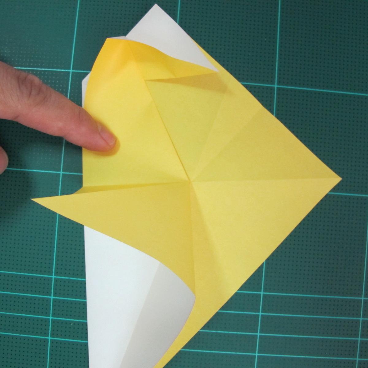 วิธีการพับกระดาษรูปม้าน้ำ (Origami Seahorse) 014