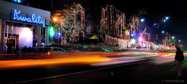 Park Street Kolkata During Christmas.Christmas Eve At Park Street Kolkata Device Nikon D300