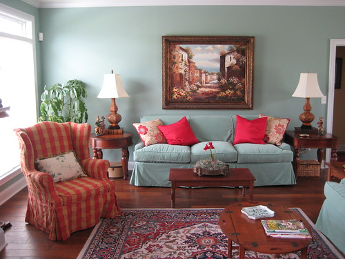 Living Room with Vintage and New | by DesignFolly.com
