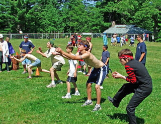 Pioneer Meet egg toss | by northcountrycamps
