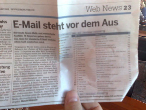 e-mail coming to an end (Article in German) | by elsua