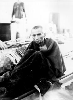 Starving inmate of Camp Gusen