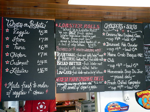 A portion of the menu at The Lobster Claw | by Lee Edwin Coursey
