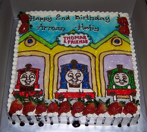 Astounding Thomas Friends Birthday Cake Kek Thomas Friends Dengan Flickr Birthday Cards Printable Opercafe Filternl