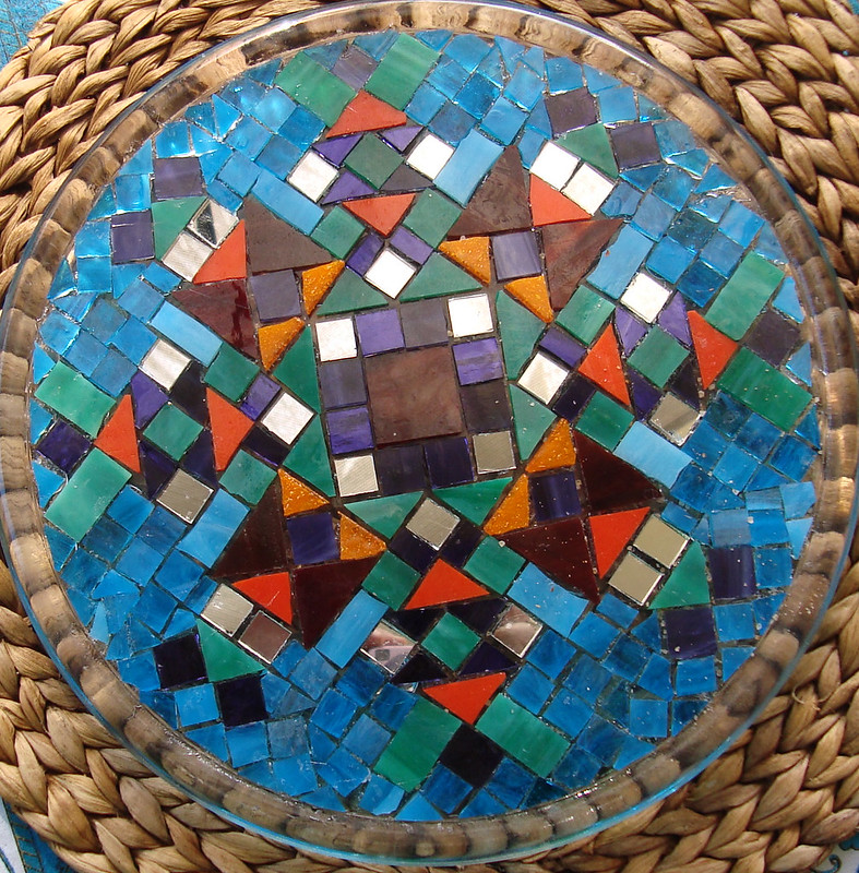 mosaic plate ungrouted