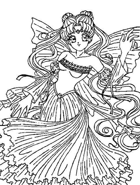 Coloring Page Tv Series Coloring Page Sailormoon | PicGifs.com | 639x485