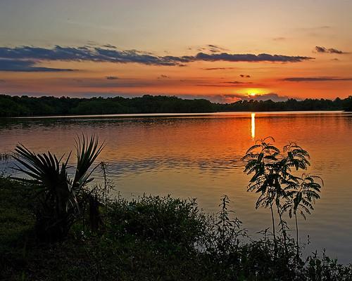 sunset sky sun lake 20d nature water canon landscape houston caseymorris