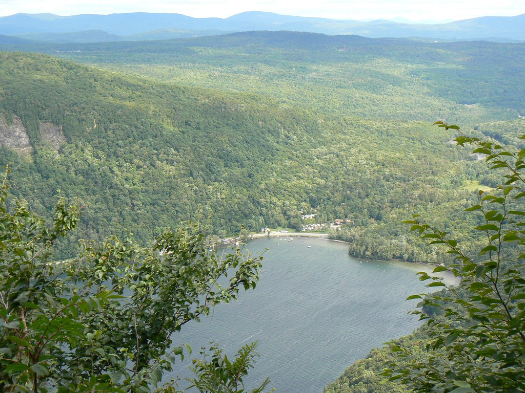 South and Nude Beaches from Mt Hor | Mt Hor, Westmore, VT