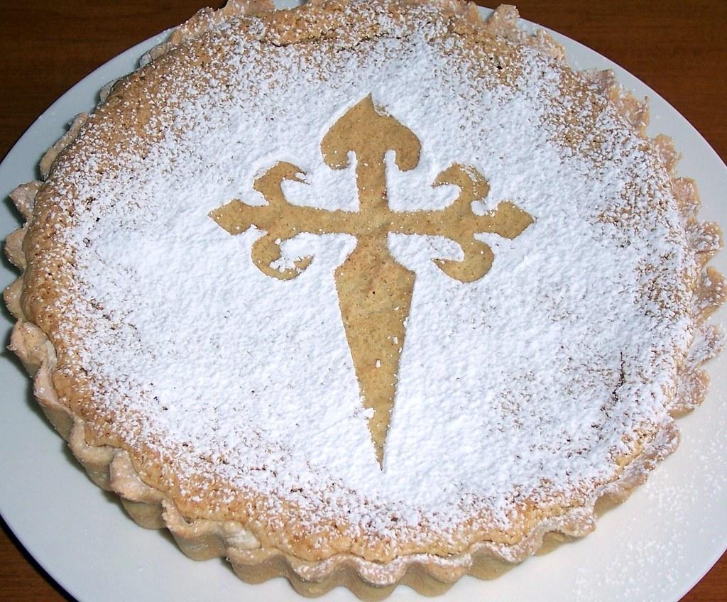 Afbeeldingsresultaat voor tarta de santiago