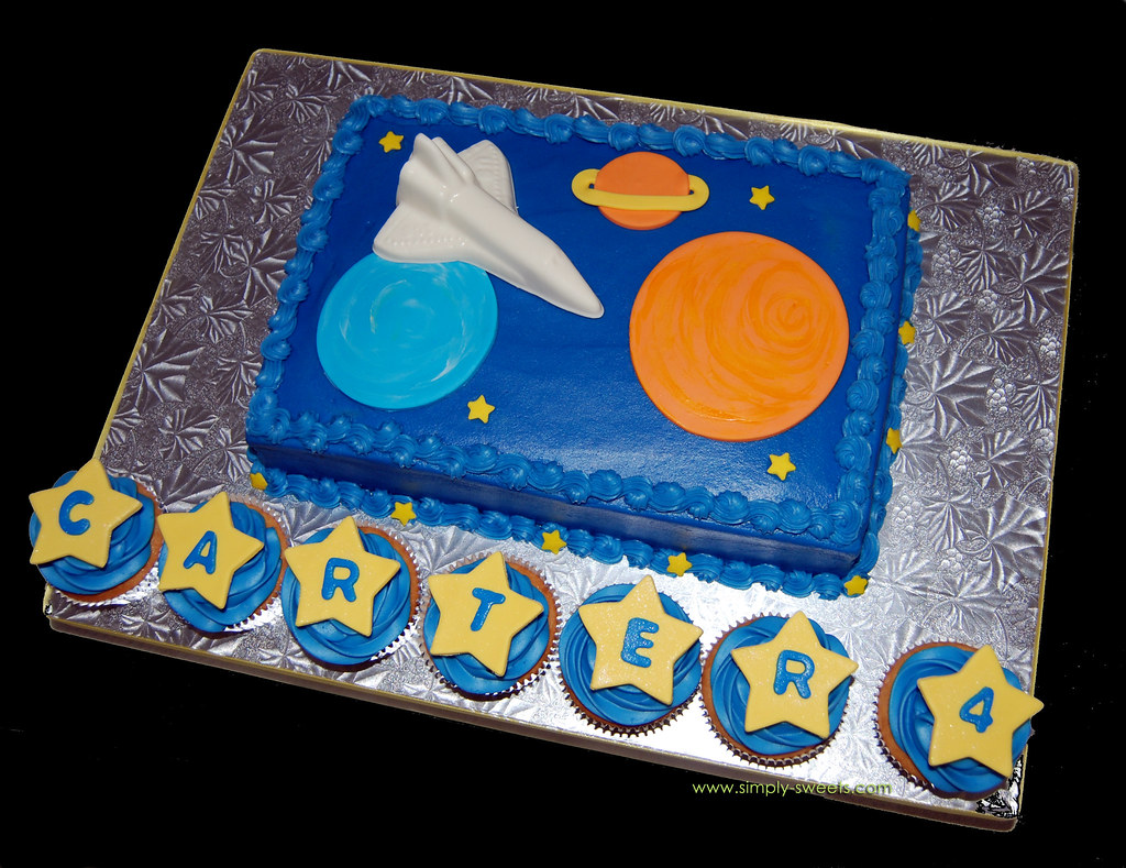 Magnificent Space Themed Birthday Cake Read More About Our Creations O Flickr Funny Birthday Cards Online Overcheapnameinfo