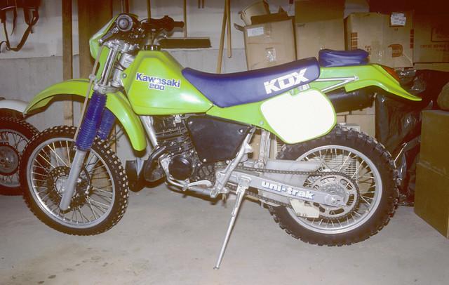 VINTAGE KAWASAKI KDX MOTORCYCLE BANNER