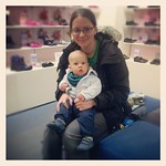 Getting George his first pair of shoes :-)