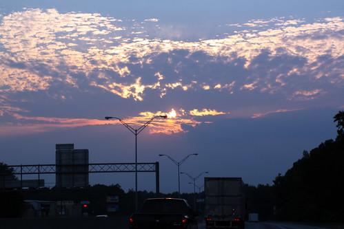 sunset car clouds nc i85 gastonia gastoncounty