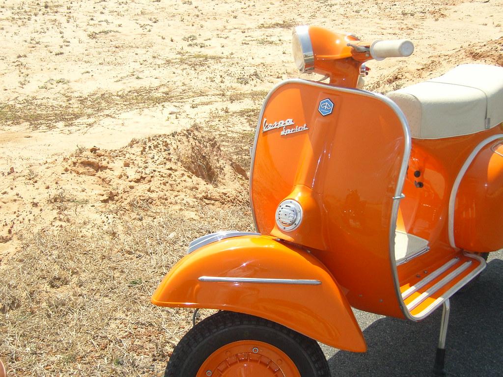 Vespa Orange Vintage Vespa Orange Vintage Vespa On Tour
