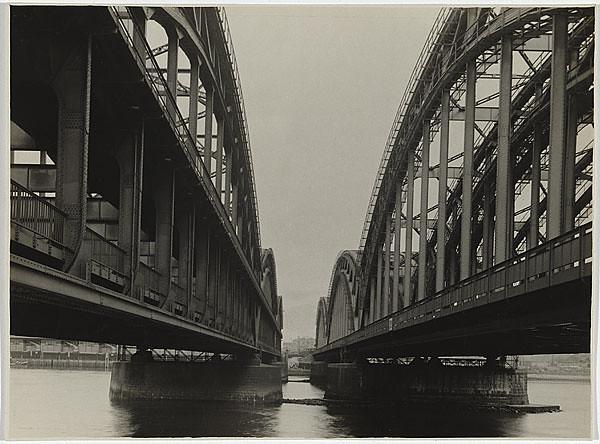 """Albert Renger-Patzsch""""Railroad bridge""""(1927)"""