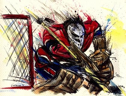 Hockey Art Painting Of Goalie Cam Wilson Flickr