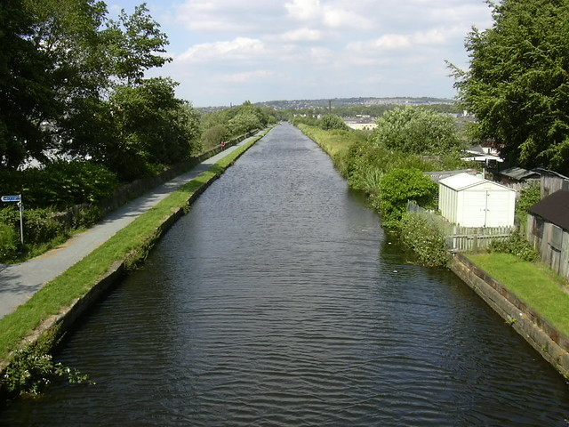 """""""The Straight Mile"""" Leeds Liverpool Canal at Finsley Gate, Burnley, Lancashire"""