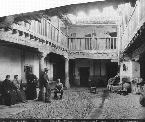 Patio de la Posada de la Sangre en 1897 Fotografía Rafael Garzón.