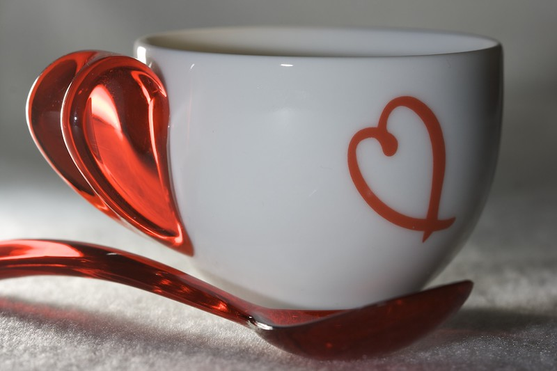 Heart Cup and Spoon