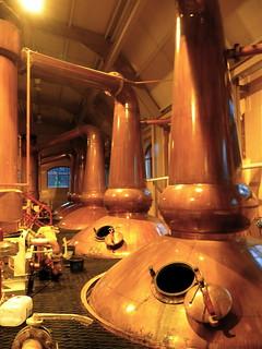 Spirit stills, Glenrothes distillery | by yvescosentino