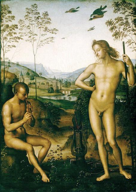 Perugino - Apollo and Marsyas (ca 1495)