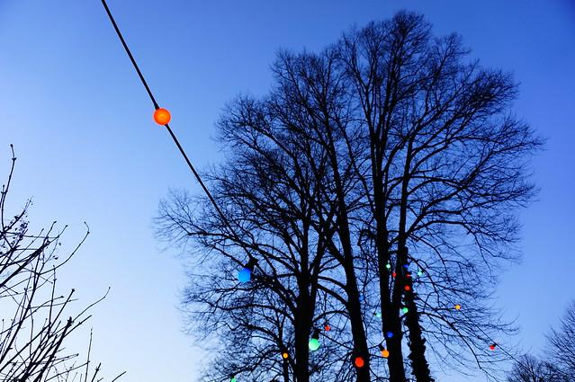 Blue light on blue hour