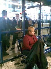 Platter am Warschauer Flughafen