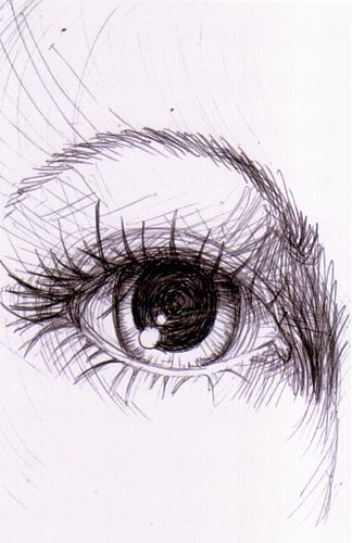 pen drawing- eye