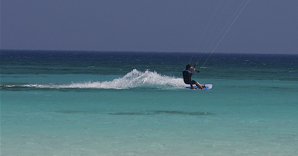 Kite Surfer at Elafonisi, Crete