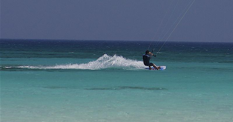 Kite Surfer at Elafonisi, Crete