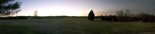 christmas family trees sunset sky panorama photoshop virginia countryside amelia