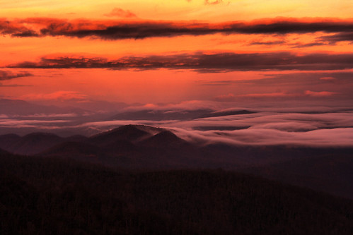 park blue sunset mountain fog clouds forest nc north ridge parkway carolina smoky smokies pisgah candler