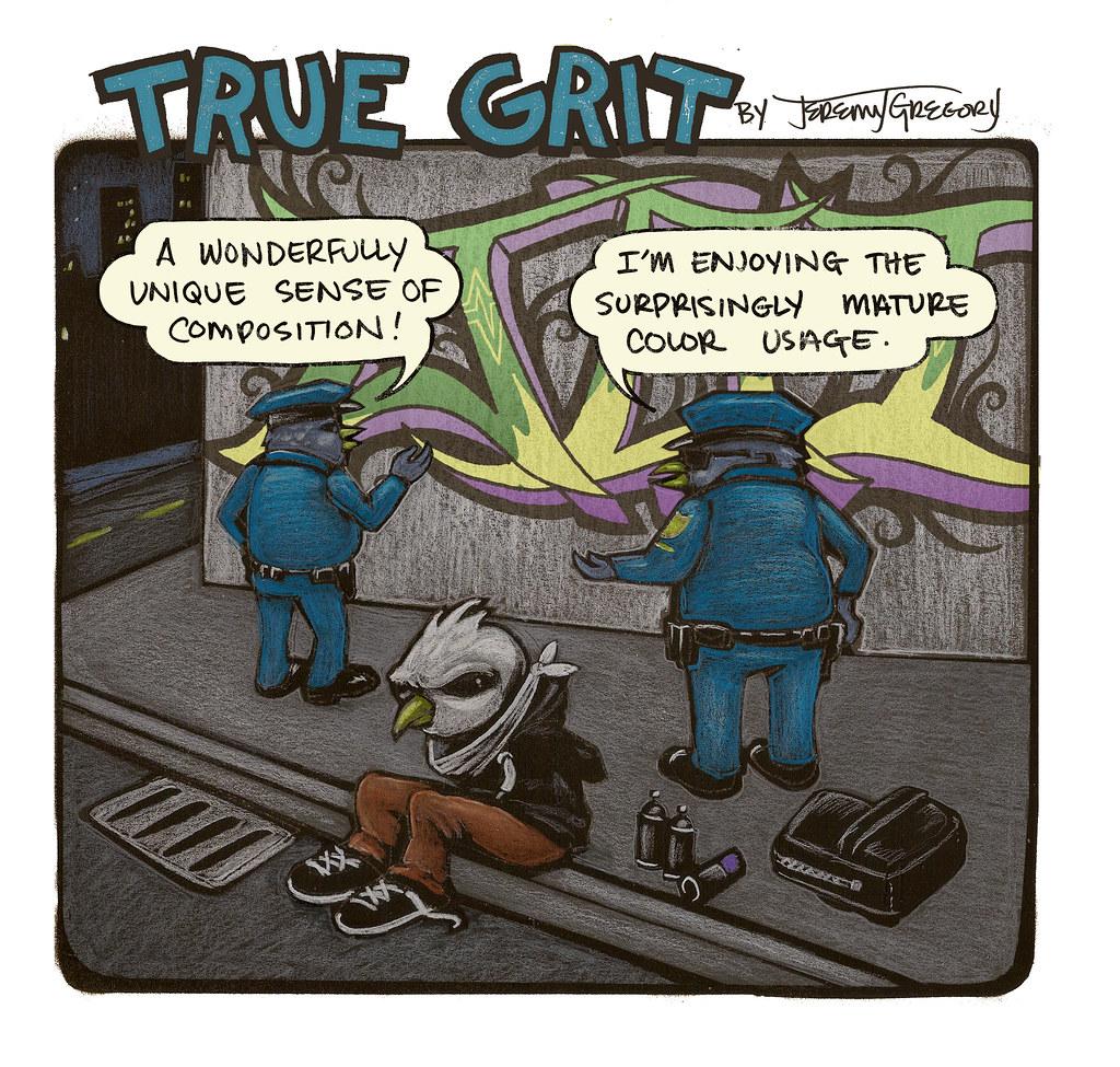 True Grit Comic (City Arts Magazine)