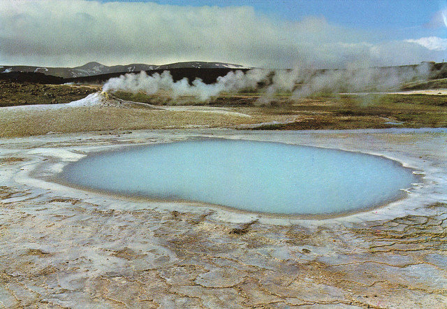 Iceland Blue Geysir Postcard