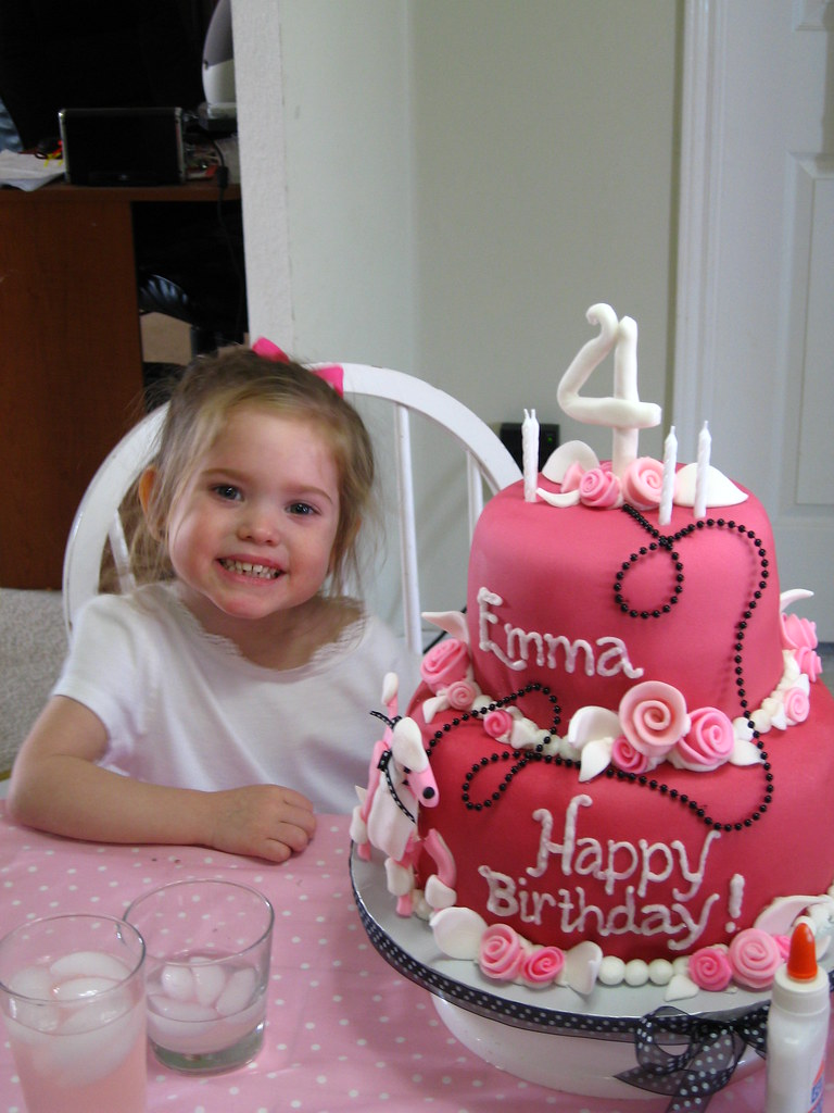 Prime Pink Poodle Birthday Cake The Birthday Girl And The Cake S Flickr Funny Birthday Cards Online Aeocydamsfinfo