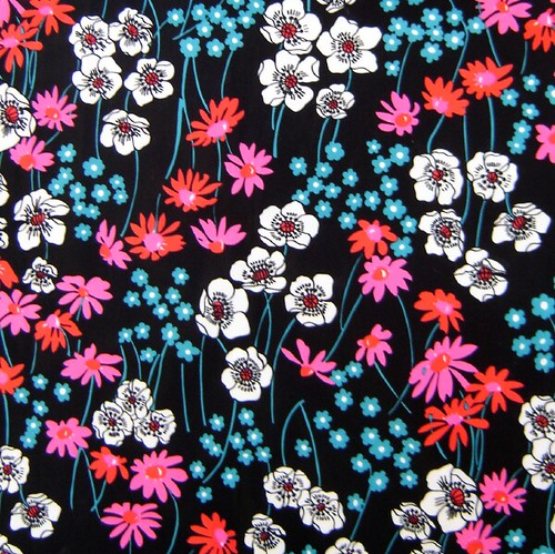 60s/70s Vintage Floral Fabric
