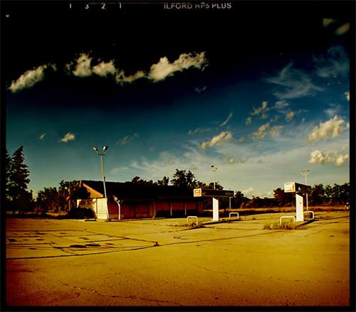 sunset ohio abandoned station rural gas 75 deserted