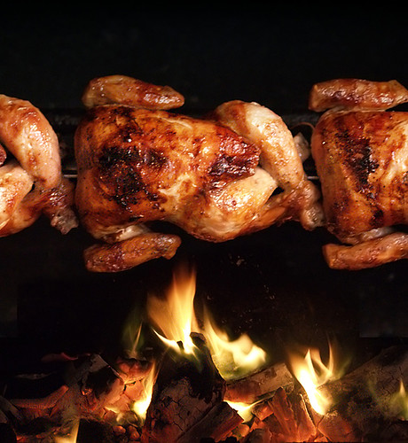Pollos a las brasas del Perú
