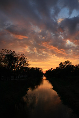 sunrise landscape dawn illinois imcanal