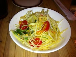 Nyc Hell S Kitchen Pure Thai Shophouse Green Papaya S