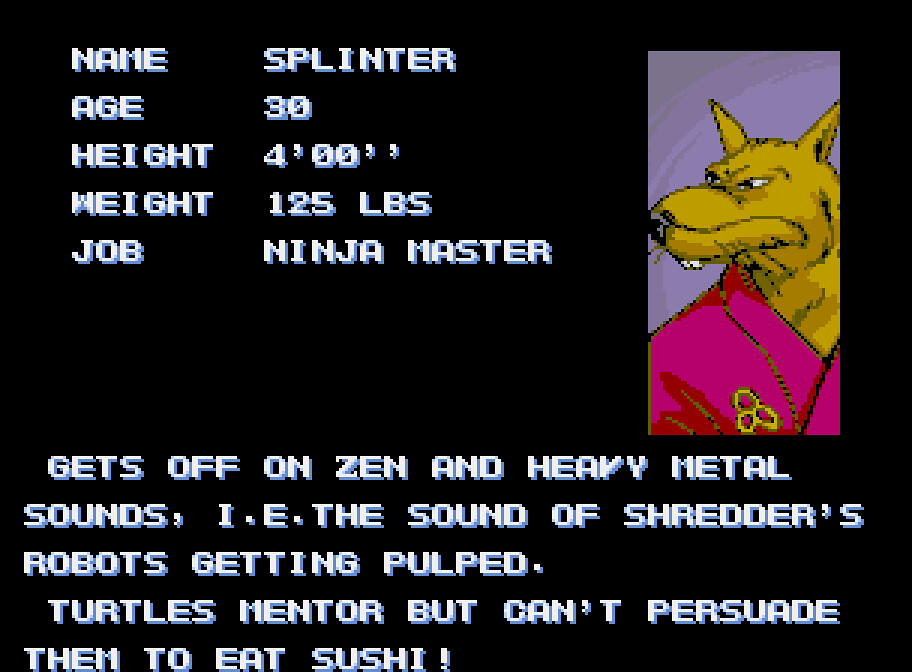 Splinter Profile: TMNT Arcade Game | Punk Buddhist Rocker   … | Flickr