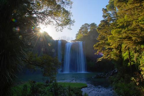 sunset newzealand geotagged waterfall blog northland whangarei tour2008070820080712 geo:lat=3568501692 geo:lon=17433624997