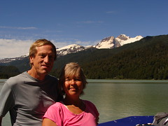 Randy and Nancy on Lago Frias