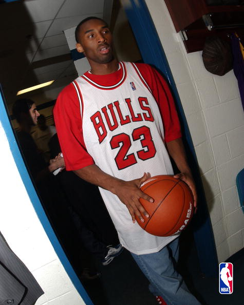 Kobe With Michael Jordan Jersey | PLEASE NOTE THIS IMAGE IS … | Flickr