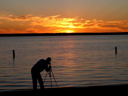 sunset silhouette landscape photographer michigan cadillac lakemitchell lakemitchel